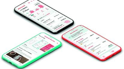 Fraccionar pagos, valorar la vivienda… Algunos de los servicios móviles diferenciadores de esta 'app'.