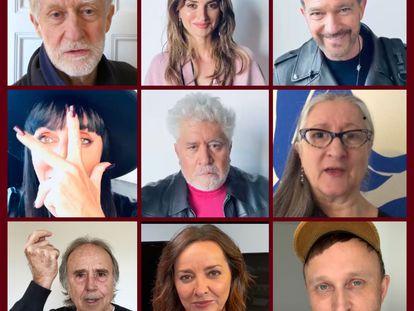 Algunas de las personas que han participado, como Pedro Almodóvar, Pepa Bueno y Joan Manuel Serrat.