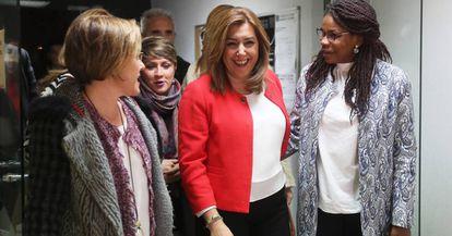 Susana Díaz, este viernes en el acto del grupo federal afrosocialista del PSOE.