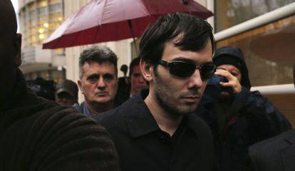 Martin Shkreli a su llegada a una Corte federal en Estados Unidos.