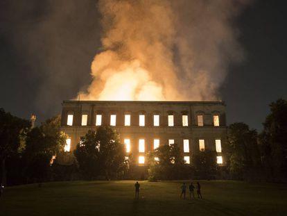 El incendio del Museo Nacional de Brasil, el domingo pasasdo