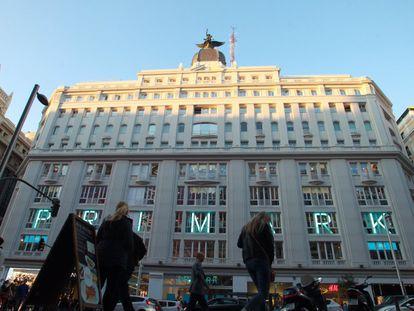 Tienda de Primark en Gran Vía, en el centro de Madrid.