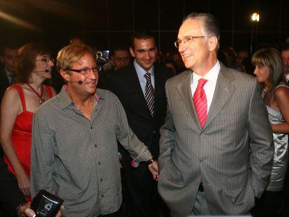 Andrés Roemer y Ricardo Salinas Pliego, en un evento en 2009.