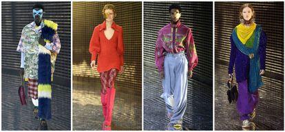 Modelos en el desfile de Gucci en la Semana de la Moda de Milán, este miércoles 20 de febrero.