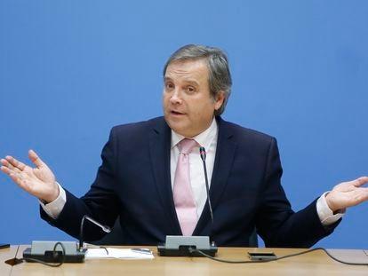 Antonio Miguel Carmona, durante una rueda de prensa en Madrid en 2015.