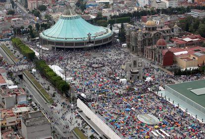 Imagen de archivo de la llegada de peregrinos a la Basílica de Guadalupe.