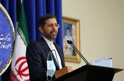 El portavoz del Ministerio de Exteriores de Irán, Saeed Khatibzadeh, el pasado octubre en Teherán.
