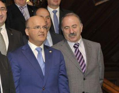 El alcalde de Barbadás, José Mnauel Freire Couto junto al presidente de la Diputación de Ourense, José Manuel Baltar