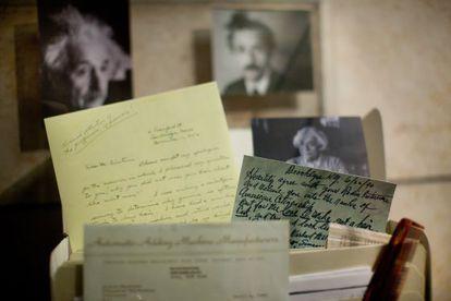 Algunos de los documentos de Einstein que han sido digitalizados.
