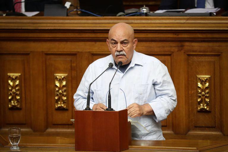 Darío Vivas durante una sesión de la Asamblea Nacional venezolana, en Caracas, en 2019.