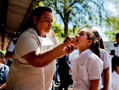 Inspección entre escolares para encontrar el virus de la Chikungunya