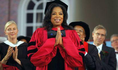Oprah Winfrey, en su graduación en Harvard.