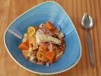 El ceviche El Inti de Oro del restaurante homónimo es de pescado marinado en leche de tigre a los tres ajíes.