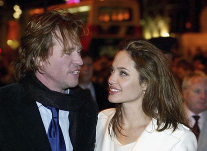 Val Kilmer y Angelina Jolie en Dublín en 2005.