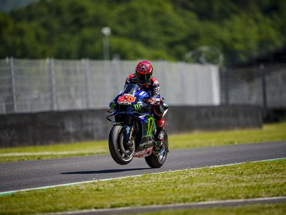 Fabio Quartararo, piloto de Yamaha, durante el GP de Italia en el circuito de Mugello.