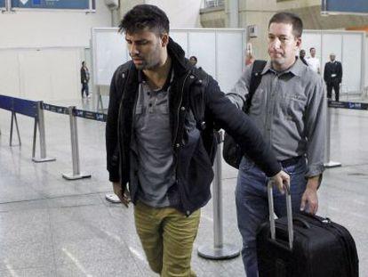 Greenwald y Miranda, a la llegada de este último a Río de Janeiro.