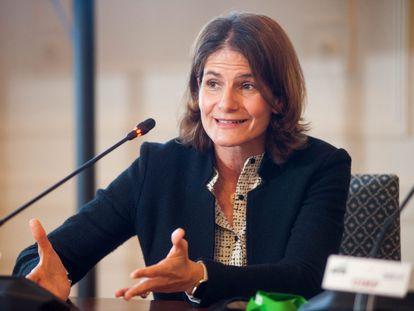 Fuencisla Clemares, directora general de Google España y Portugal, en la Universidad Menéndez Pelayo de Santander.