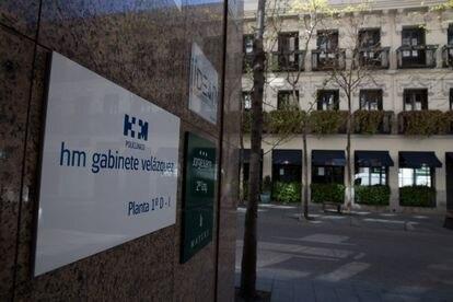 HM Gabinete Médico Velázquez, en la calle Jorge Juan de Madrid, este jueves. ,