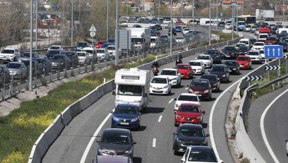 Un tramo de la A-3, a su paso por Madrid.