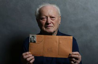 Janos Forgacs, de 87 años, superviviente del campo nazi, el 12 de enero.
