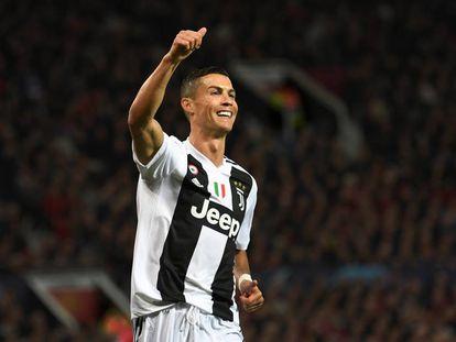 Cristiano Ronaldo durante un partido de Champions con la Juventus en 2018.