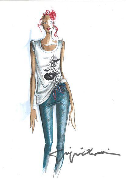 Uno de los modelos confeccionados por la cantante Rihanna para Armani