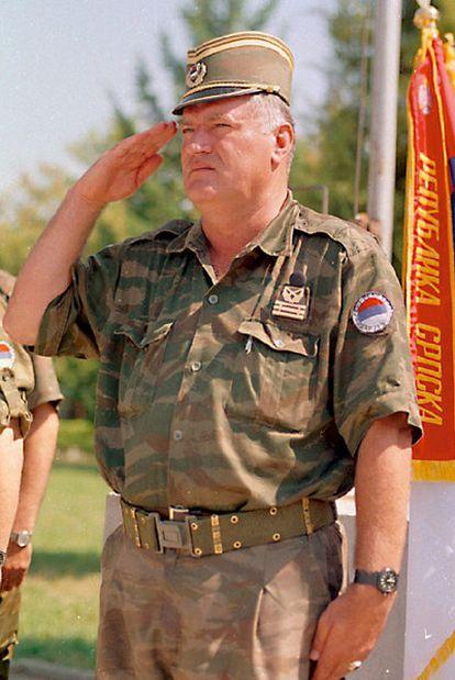 El ex general Ratko Mladic, en Banja Luka (Bosnia) en 1995.