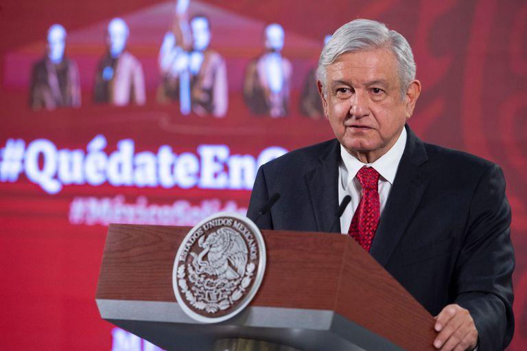 El presidente Andrés Manuel López Obrador durante una rueda de prensa.