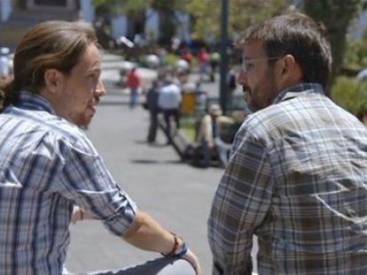 Pablo Iglesias y Jordi Évole, durante la entrevista del programa 'Salvados'.