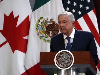 El presidente de México Andrés Manuel López Obrador habla durante un evento 10 de diciembre de 2019. AP / Marco Ugarte