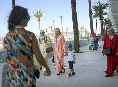 Una imagen de la avenida de Mohamed VI, junto al nuevo paseo marítimo.