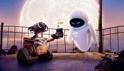 Imagen de la película 'Wall-e', ambientada en un mundo posthumano.