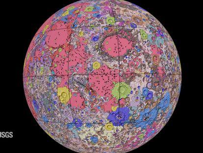 Mapa Geológico Unificado de la Luna