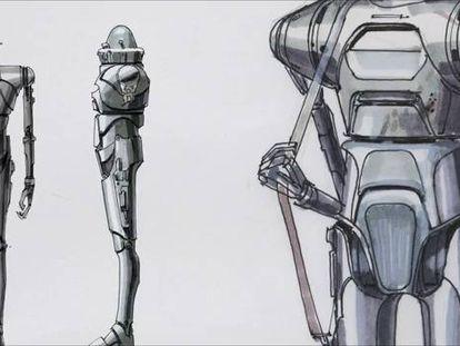 Extracto del material inédito de 'Rogue one' sobre la creación del robot K-2SO.