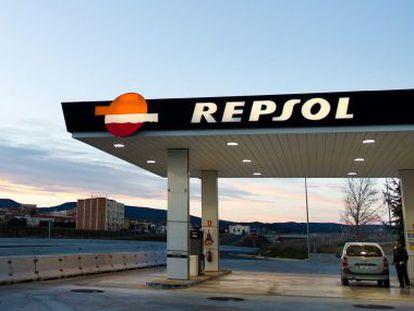 Una estación de servicio de Repsol en Barcelona