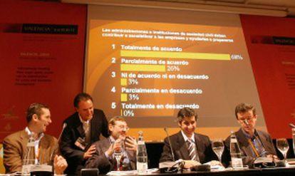 Urdangarin charla con Lissavetzky, sin relación con el caso, en el congreso Valencia Summit.
