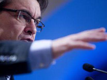 Artur Mas, al hacer balance de su primer año de gobierno.