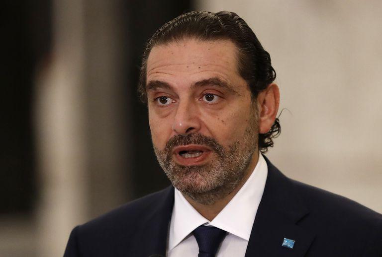 Saad Hariri, nombrado de nuevo primer ministro de Líbano, comparece este jueves en el palacio presidencial de Baabda en Beirut (Líbano).