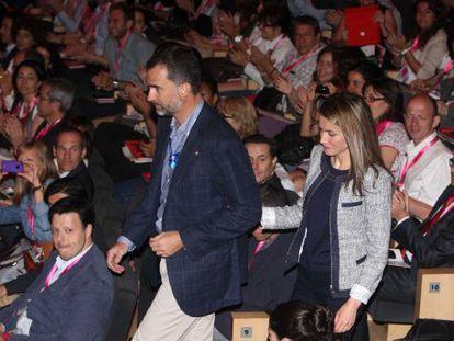 Los Príncipes, este jueves, en el Palacio de Congresos de Girona.