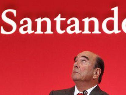 Emilio Botín, durante la presentación de cuentas.