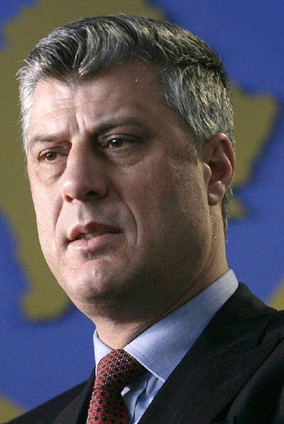 El primer ministro de Kosovo Hashim Thaçi.