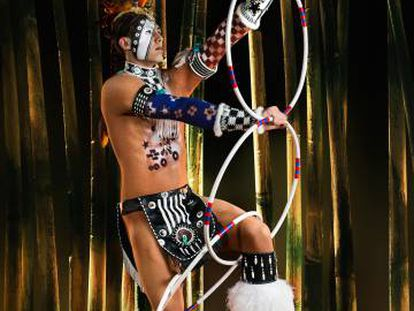 Un bailarín amerindio.