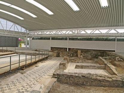 La cubierta de la villa romana de Marbella.