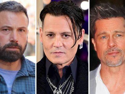 Ben Affleck, Johnny Depp y Brad Pitt.