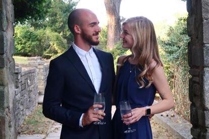 Brian Laundrie y Gabby Petito, en una imagen de sus redes sociales.