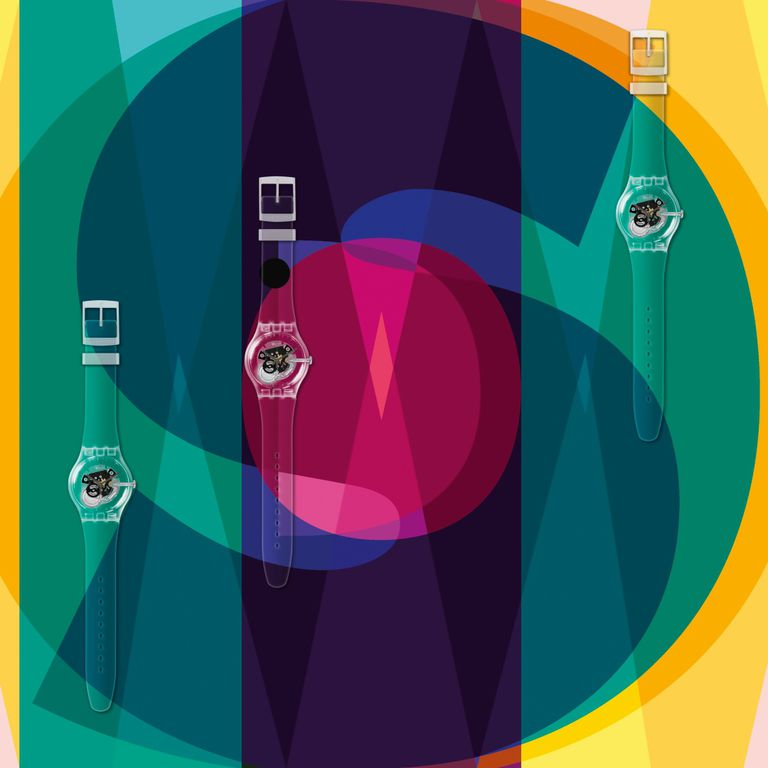 Imagen de la colección personalizable Swatch x Boa Mistura.