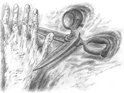 Ilustración de Günter Grass para 'De la finitud', su poemario póstumo.