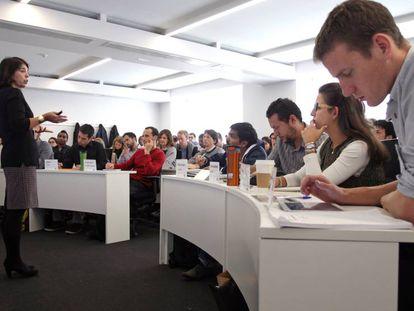 Una clase del International MBA en el Instituto de Empresa en Madrid.