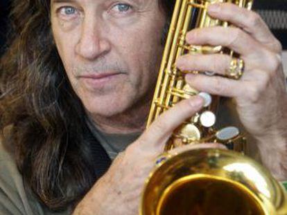 Jorge Pardo, con su saxofón.