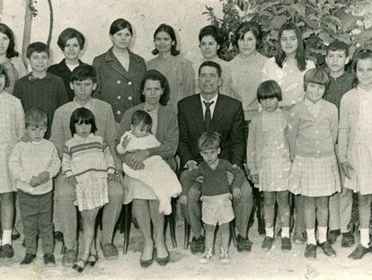 La familia Ojeda Artiles, Premio Nacional de Natalidad de 1969.